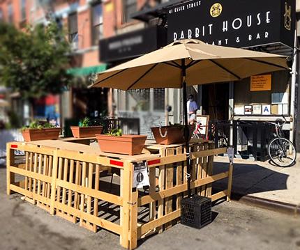 Rabbit House Restaurant Outside Dining Area